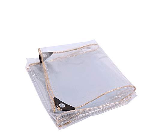 GXYLTT Lona Impermeable Transparente, Lona Impermeable Transparente para Exteriores Resistente, Impermeable Y Cubierta De Lona para Cenador De JardíN,3X4m/10X13ft
