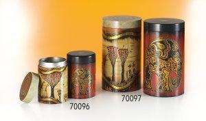 Dose African Life 500g 2-fach , rund, geprägt H 190 mm, Ø 109 mm