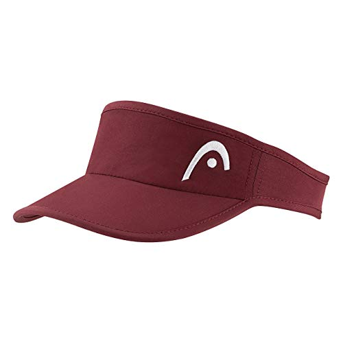 HEAD PRO Player Womens Visor, Berretto Donna, Burgundy, One Size