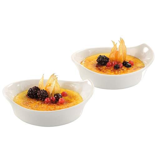 GEFU 35390 Inspiria Ramequins pour Crème Brûlée Céramique Blanc 16 x 7,9 x 14,1 cm 2 Pièces