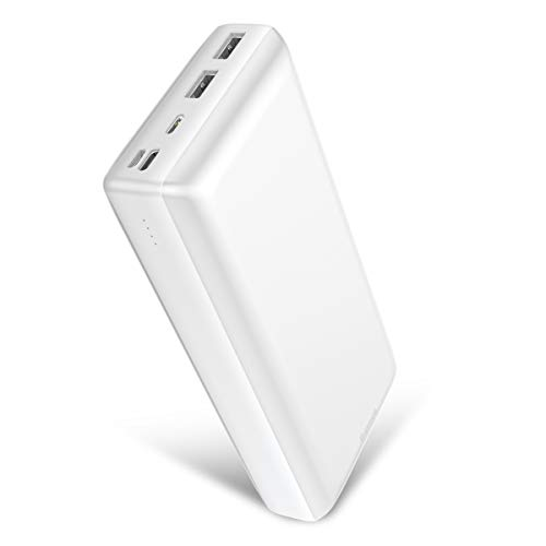 Power Bank 30000mah, Baseus USB C PD3.0 Fast Charging 3A Portable Charger, 3 Output Ports Battery Pack Phone Charger for iPhone, IPad, Mac, Samsung Galaxy, Pixel and airpods. (White)