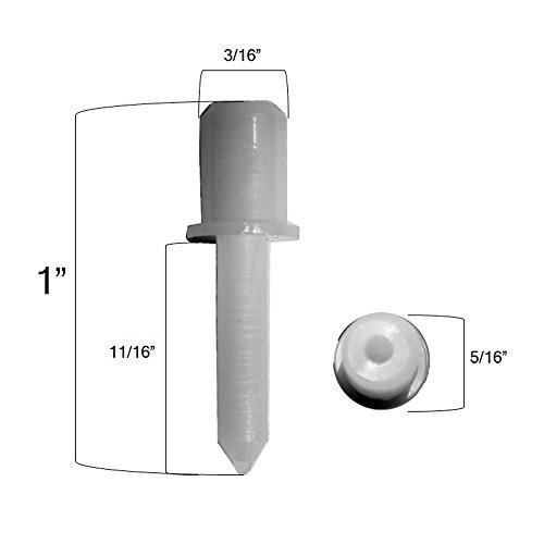 Delta Blinds Supply 10 Pack - Standard Nylon Shutter Pins