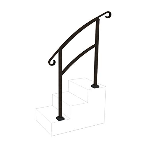InstantRail 3-Step Adjustable Handrail (Black)