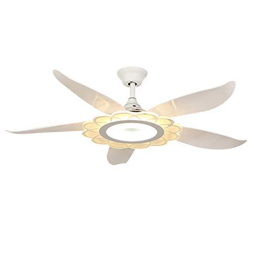 Ventilateurs de plafond avec lampe intégrée Éclairage De Ventilateur De Plafond À LED Avec Lustre, Éclairage De Ventilateur De Plafond Étude Nordique Télécommande Domiciliaire De Ventilateur De Plafon