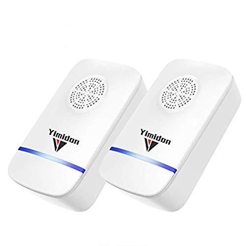 Yimidon Repellente ad Ultrasuoni Elettromagnetico Efficace, Elettrico Repeller Ultrasonico Contro Zanzare Tropicali...