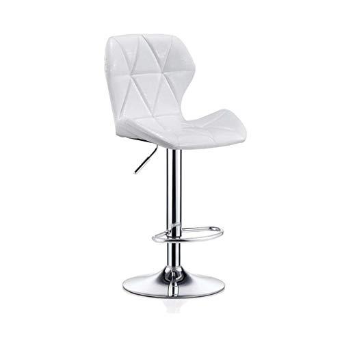 Barkruk Hoge kruk Barkruk Draaien Hefkruk Barkruk met rugleuning Bureaustoel Vrije stoel Eetkamerstoel (Color : White)