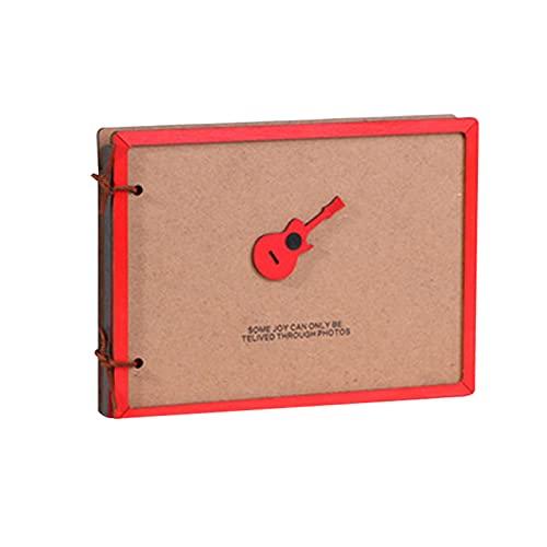 Bartholomew Álbum de fotos de madera, creativo, para manualidades, álbum de recortes, regalo de cumpleaños para amigos y familiares.