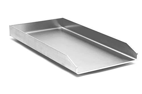 Kette´s Grillzubehör Edelstahl Plancha/Griddle-Plate/Bratplatte/Burger Platte (450x330 mm für Napoleon Le/Lex)