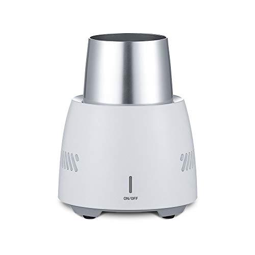 Elektronischer Flaschenkühler für Eisbier, Wein, Getränke, tragbar, Mini-Kühlung, schnell kühlend, für Zuhause und unterwegs weiß