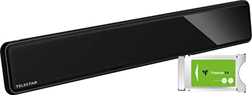 freenet TV CI+ Modul mit Telestar Antenna 12 LTE (DVB-T2 HD Antenne, LTE Filter, 3 Monate freenet TV kostenlos) schwarz