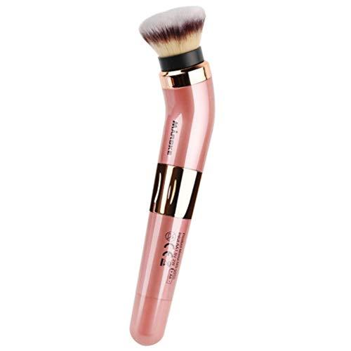 Minkissy 1 Set Brosse de Maquillage Électrique 360 ??Degrés Rotatif Brosse Cosmétique Fondation Blush Applicateur Outil Cosmétique Cadeau pour Mélanger Contour Mise en Évidence (Rose)
