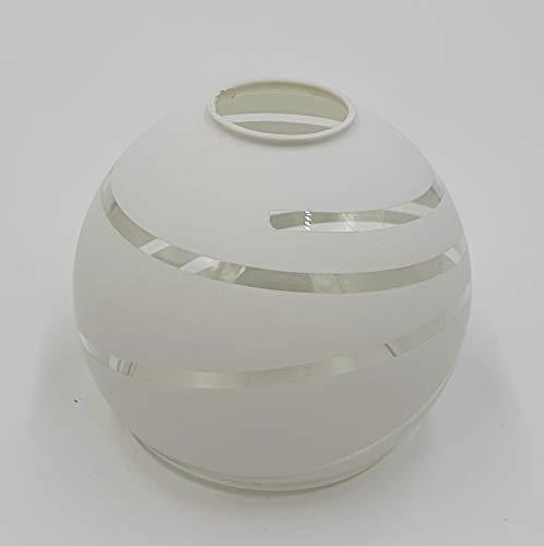 Lampenglas weiß / klar spiralform Design E14 Ersatzschirm Schirm Glas Lampenschirm Ersatzglas f. Pendelleuchte Tischlampe u.a. für Led Leuchte