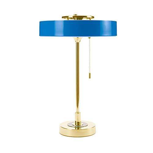 Lampe de bureau Bureau moderne Lampes de table Salon Décor Creative Design Chambre Lampe de chevet Tissu Ombre Décoration Bleu