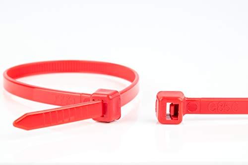 WKK Kabelbinder rot, 100x2,5mm, 100 Stück
