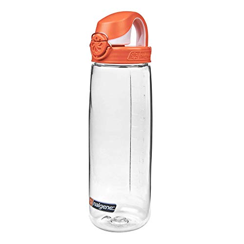 Nalgene Trinkflasche Everyday OTF, Transparent/Orange, 0.7 Liter