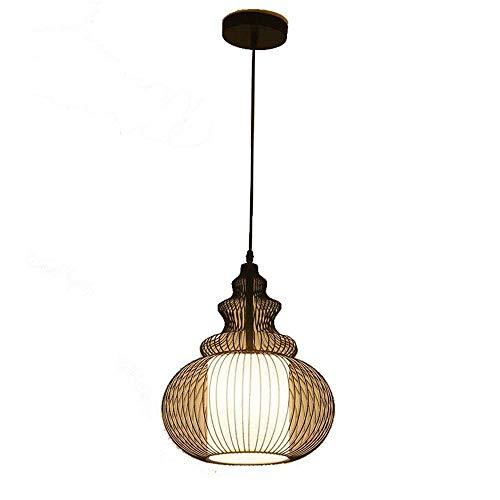HDDD draadkooi rustiek in landelijke stijl industriële vintage kroonluchter voor het ophangen van de hanglamp (30 x 36 cm)