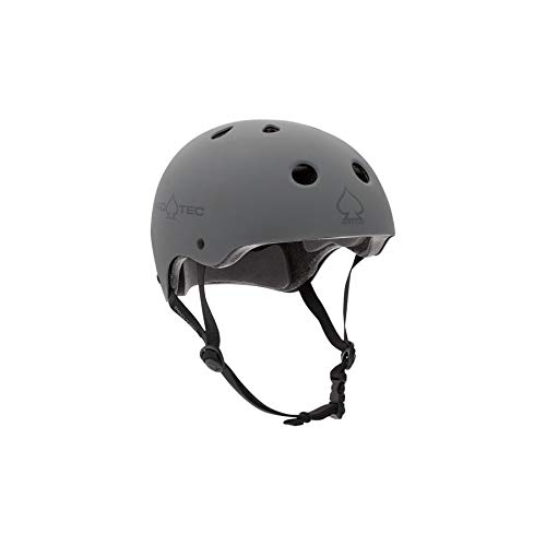 Pro-Tec Unisex Helmet Classic Certified PRT-PHE-908 M Matte Grey