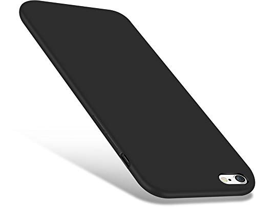 CellEver iPhone 6 / 6s Case, Liquid Guard Silicone Rubber Shockproof Case with Soft Microfiber Cloth Cushion for Apple iPhone 6 / 6S (Black)