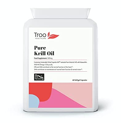 Superba Krill Oil Extract 500mg 60 Capsules - 1000mg Per Serving - High Grade Pure Antarctic Sourced Red Krill Providing a Rich Source of Omega to Support Healthy Cardiovascular Function, Immune System, Balanced Blood Sugar & Healthy Joints & Bones