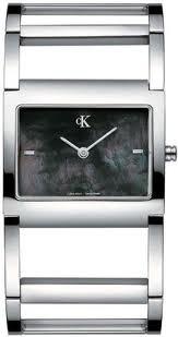 Calvin Klein K0428183 - Reloj analógico de Cuarzo para Mujer con Correa de Acero Inoxidable, Color Plateado