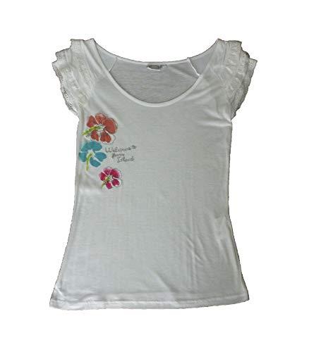 losan - Camiseta - para Mujer Blanca (XXL)