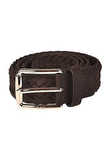 Tod's Luxury Fashion Herren XCMCPR23100HMKS800 Braun Wildleder Gürtel | Jahreszeit Permanent