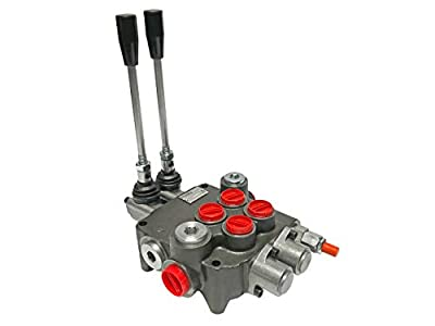 Hydraulic Directional Control Valve 2 Spool 13 GPM Flow 4-Way Tandem Center from Magister Hydraulics
