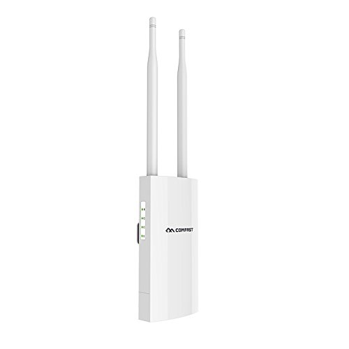 Rabusion Hot for COMFAST CF-EW71 Outdoor Weatherproof 27dbm Wireless Wifi Router/AP Repeater 2.4G External Antenna Wifi Base Station U.S plug