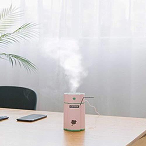 Luftfuktare Mute Desktop USB Laddning Mini Luftrenare 400 ml Stor kapacitet Klöver - Rosa