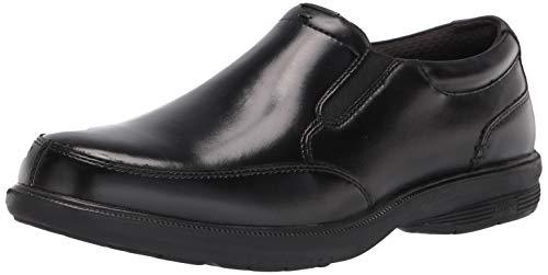Nunn Bush Men's Myles Street Slip-On Slip Resistant Loafer with KORE Comfort Technology, Black, 12 Wide