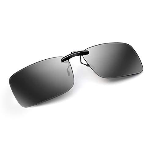 AoHeng Nuevos Grande clips de gafas de sol polarizadas,clip en lentes,Clip en anteojos recetados,hombres y mujeres,protección UV