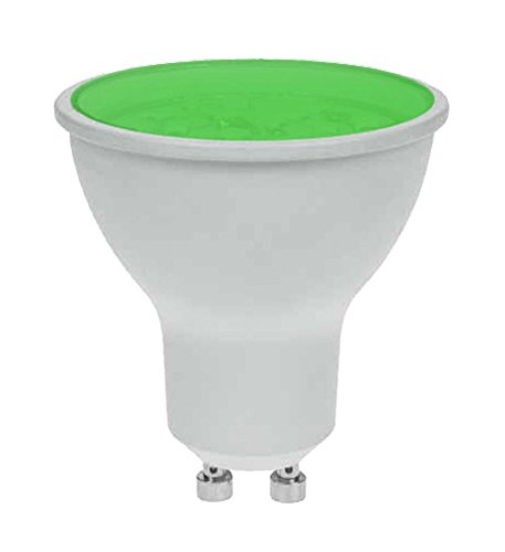 Bombilla LED Pro-Lite 7 W GU10 Color Verde Twist and Lock no regulable