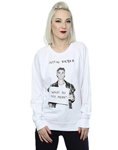 Justin Bieber Damen What Do You Mean Sweatshirt Medium Weiß