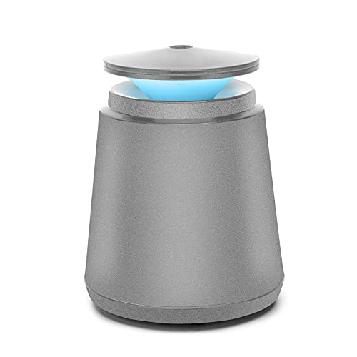 Natbeesy Mini Humidificador 350ML USB Función de sincronización automática 2 modos con LED de 7 colores para viajes de oficina de dormitorio en casa de escritorio Gris