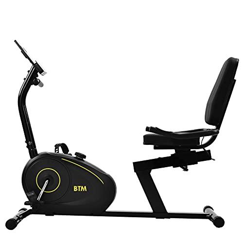 ADFBL Bicicleta estática reclinada, entrenador cardiovascular interior con 8 niveles de resistencia magnética ajustable