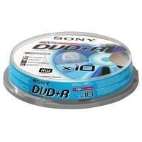 Sony 10DPR120BSP beschreibbare 4,7GB DVD+R 16x, 120 Minuten (10er Spindel)