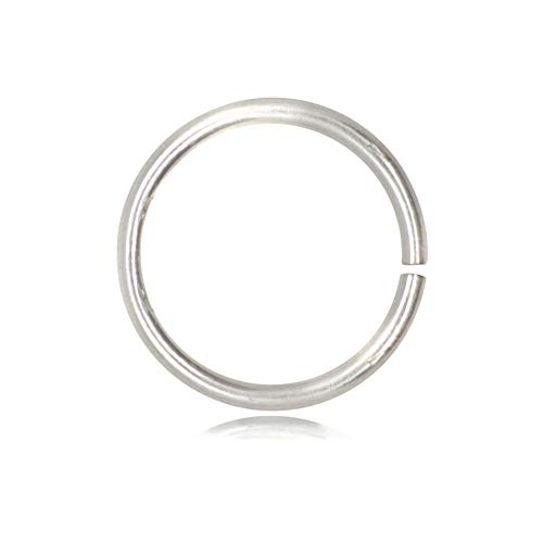 TJS Open Jump Rings 5 Pcs Pack Nickel-Free 925 Sterling Silver, 6mm Diameter, 0.9mm Thickness, 4mm, 6mm, 8mm, 10mm