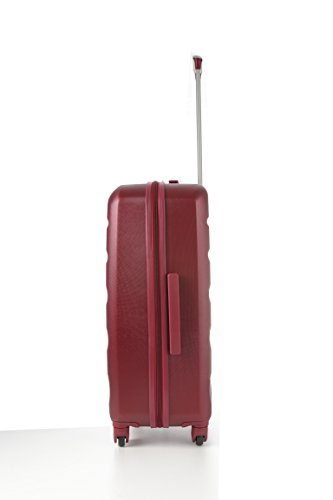 Aerolite Aerolite Leichtgewicht ABS Hartschale 4 Rollen Trolley Koffer Reisekoffer Hartschalenkoffer Rollkoffer Gepäck, 69cm, Wein