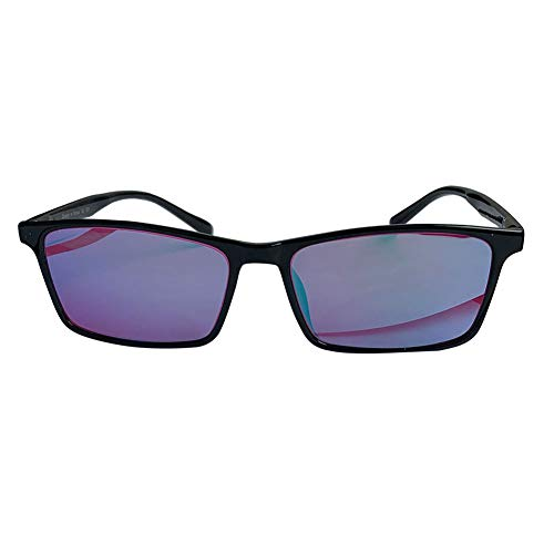ZIIZZ Color Blind Glasses HZ-053 Multi-Coated Blue Lens Red/Green Color Blind Glasses Suitable for Indoor and Outdoor use