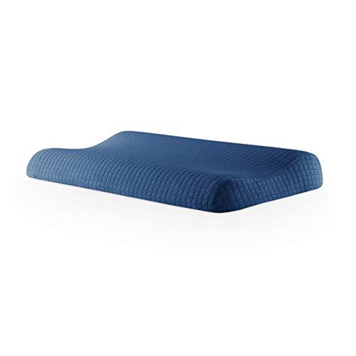 Memory Foam Pillow Orthopädische Schlafkissen Ergonomische Halsbettwäsche-Kissenschweerer Kostenlose Kissenbezug (Color : Blue)