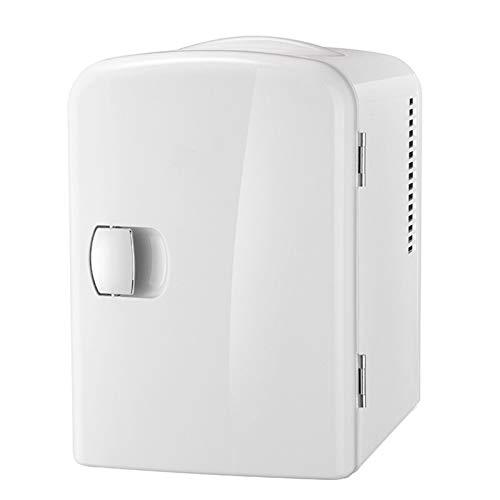 OMVOVSO Mini Nevera, 4 litros con Función De Refrigeración Y Calefacción Congelador Eléctrico Portátil para Automóvil,Blanco