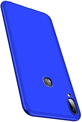 XINFENGDI Cover + Pellicola Protettiva ASUS ZenFone Max PRO(M1)/ZB601KL,PC Guscio Duro Finitura Matte Anticaduta Antiurto Antipolvere Custodia Smartphone per ASUS ZenFone Max PRO(M1)/ZB601KL - Blu