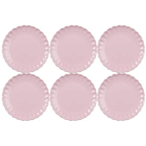 CREAFLOR HOME 6er Set Kuchenteller, Dessertteller MYNTE English Rose rosa D. 19,5cm Ib Laursen