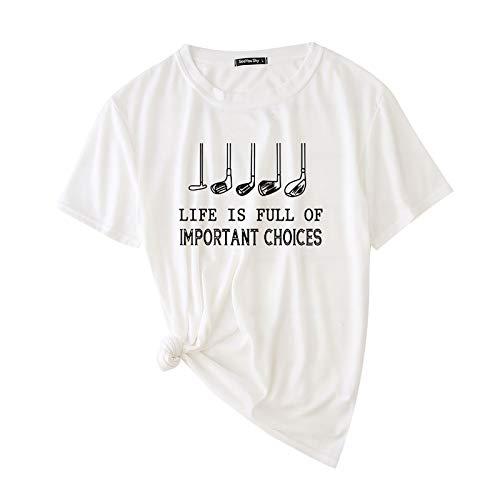Maglia t Shirt Maglietta T-Shirt da Uomo Party Fashion Stampato Girocollo Manica Corta Top Camicetta (XXL,Bianca)