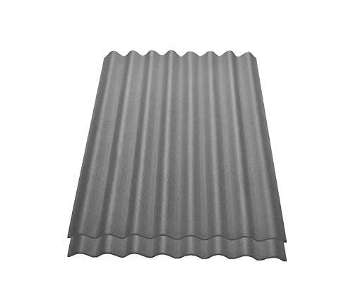Onduline Easyline Dachplatte Wandplatte Bitumenwellplatten Wellplatte 2x0,76m² - grau