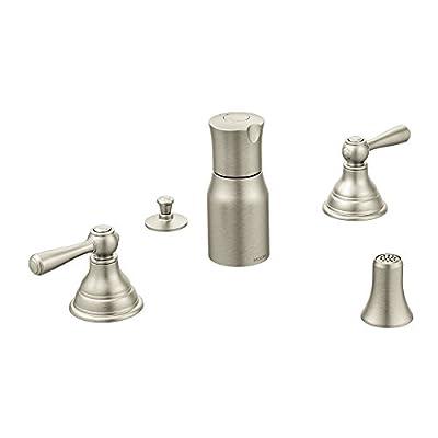 Moen T5210BN Kingsley two-handle bidet faucet (valve not included), Brushed Nickel