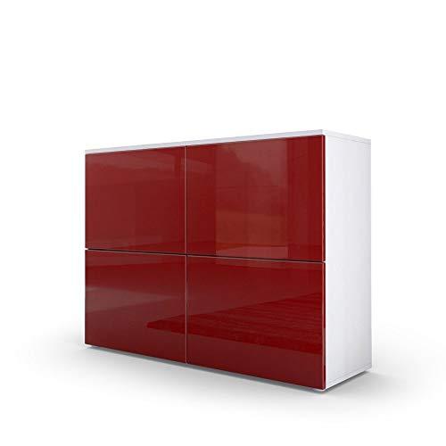 mobile ingresso rosso Mobile Skate 1106 Credenza Frontali Rosso Bordeaux Mobile per Soggiorno o Ingresso