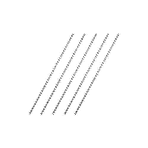 Sourcingmap - Varilla redonda de acero inoxidable 304 para manualidades (5 unidades, 2 mm x 100 mm)