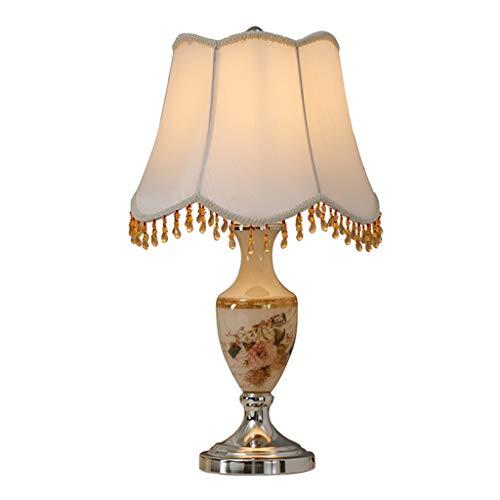 XZGang tafellamp van glas, voor woonkamer, slaapkamer, restaurant, tafellamp, handbeschilderd, corpus franjes, lampenkap, 34 x 58 cm, huis 34 * 58CM