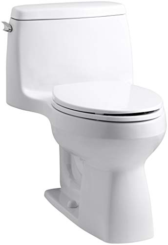 Santa Rosa Comfort Height 1-piece 1.28 GPF Compact Elongated Toilet in White